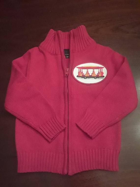 Daniel Tiger Red Trolley Full Zip Cardigan Sweater Etsy
