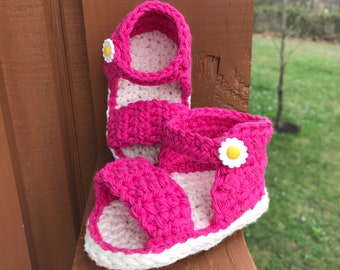 Baby Girl Sandals, Crochet Baby Sandals, Summer Baby Shoes, Barefoot Baby, Baby Shower Gift under 20