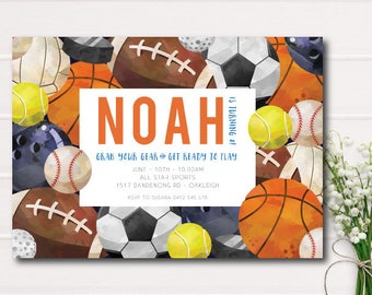 boys football invite etsy