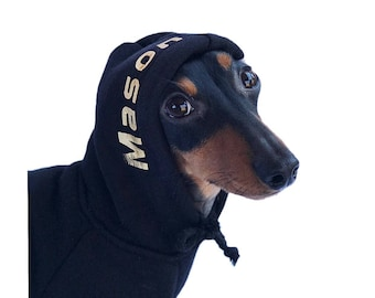 Custom Dog Hoodie || Personalized Dog Hoodie || Personalized Dog Clothes || Dog Sweater || Dog Name || Black Dog Hoodie || Warm Dog Clothes