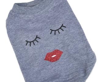 Grey Dog Tshirt || Summer Dog Clothes || Dog Top || Dog Shirt || Small Dog Clothes || Dog Fashion || Dog Clothes || Dog Apparel ||