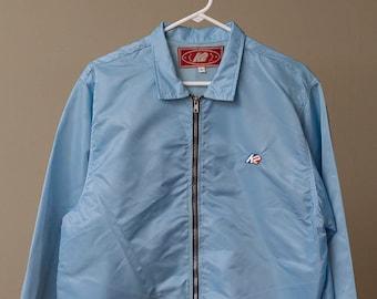 K2 Satin Zip Front Coach Jacket Baby Blue Small