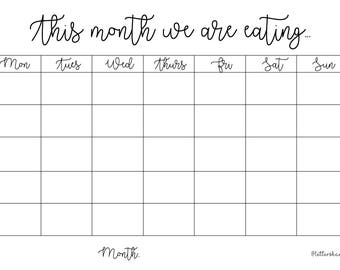 printable weekly cleaning schedule downloadable cleaning etsy
