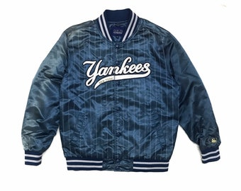 Vintage Y2K New York Yankees 26th World Series Champions Baseball Jacket Limited Edition Distressed Patches Starter Small Medium Unisex 90s