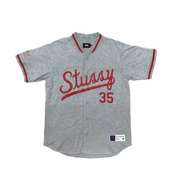 Vintage Stussy International MLB Jersey Baseball R