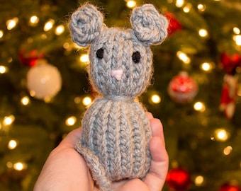 Knit Mouse Catnip Cat Toy