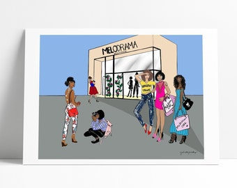 Custom Fashion Illustration x 4-6 people