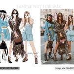 Custom Fashion Illustration x 2-3 people