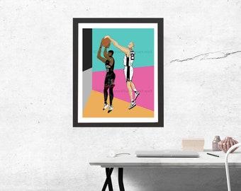 Spurs Art Print x Manu Ginobili