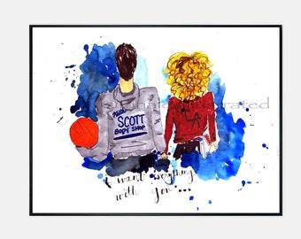 One Tree Hill Art x Lucas & Peyton