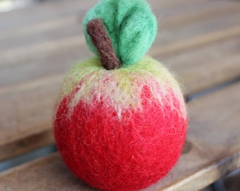 home decor, gifts, souvenirs, apple, felted apple, needle felted gift, wool art
