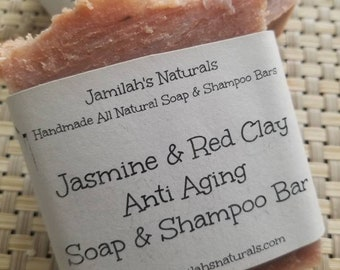 Jasmine and Red Clay Soap and Shampoo bar