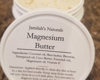 Magnesium Butter for pain, arthritis, sore muscles and stress.