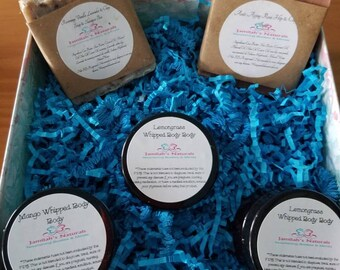 Luxurious Spa Set With a Sugar Scrubs, Bath Massage Oils, Whipped Body Butters,and Handmade Natural Soap Bars