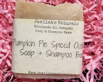 Pumpkin Pie Spiced Oatmeal Shampoo & Soap Bar