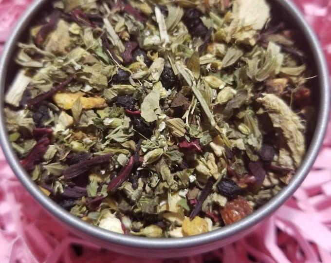 Elderberry Hibiscus & Orange Tea Blend ( Immune Building, Cold Season)