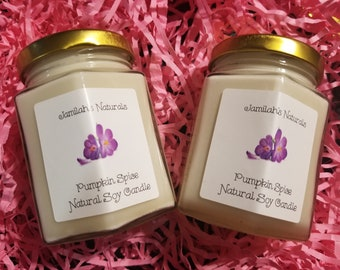 Pumpkin Spice Natural Soy Candle