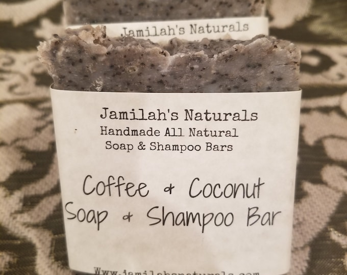 Coffee & Coconut Soap and Shampoo Bar
