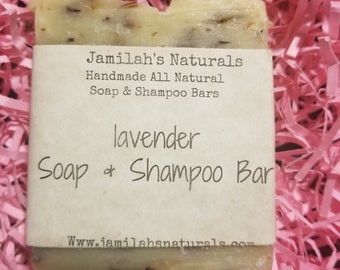 Lavender Soap And Shampoo Bar