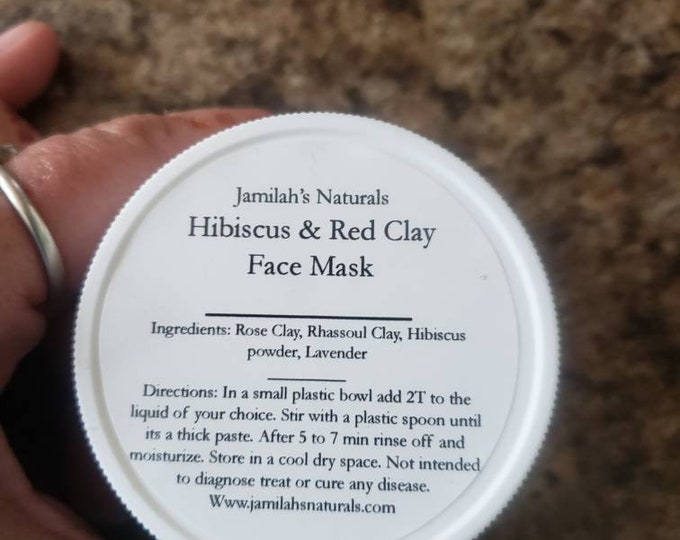 Hibiscus & Red Clay Face Mask