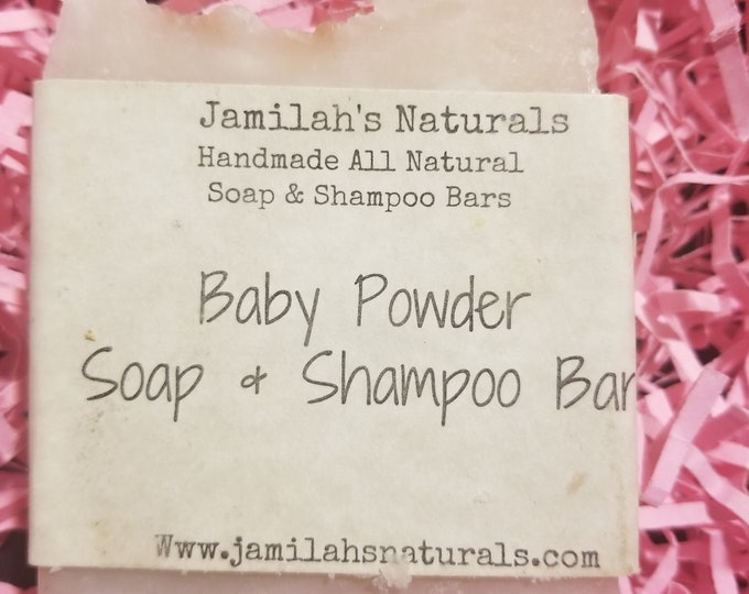 Baby Powder Soap and Shampoo Bar