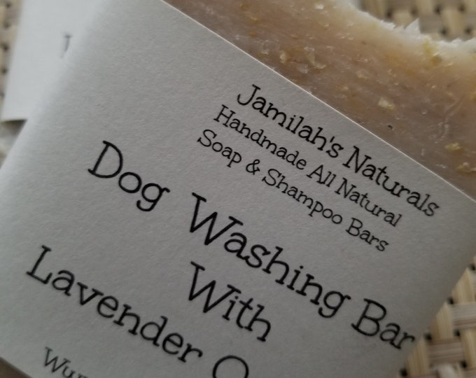 Dog Washing Soap Bar With Lavender And Oatmeal