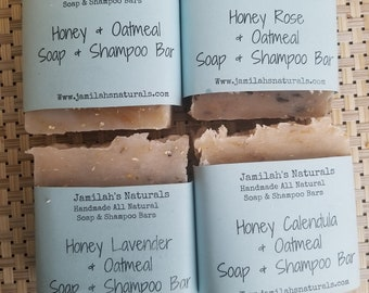 Oatmeal Honey Soap & Shampoo Bars