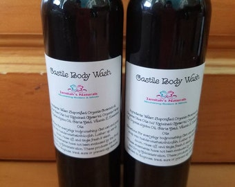 Organic Vegan Castile Body Wash for adults & babies (lots of scents choices)