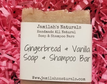 Gingerbread Vanilla Body & Shampoo Soap Bar