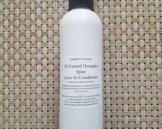 Detangling Spray (leave in Conditioner, anti frizz) for all hair types
