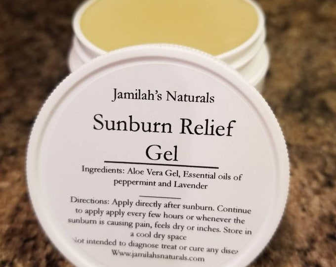 Sunburn Relief Gel with Essential oils