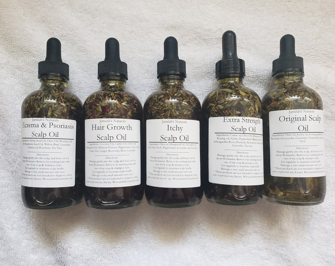 Scalp Oil For Eczema, Psoriasis, Hair Growth, Itchy, Damaged, Dry Hair