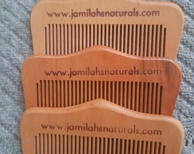 Natural fine toothed Peach wood comb