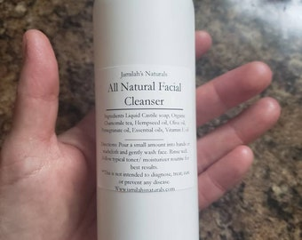 All Natural Facial Cleanser is ideal for all skin types. Even sensitive, dry and challanging skin types.