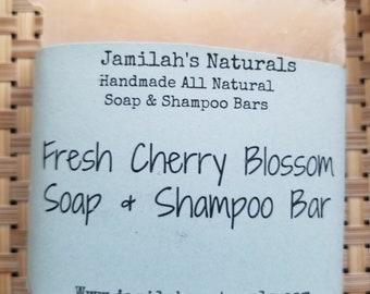 Fresh Cherry Blossom Soap & Shampoo Bar
