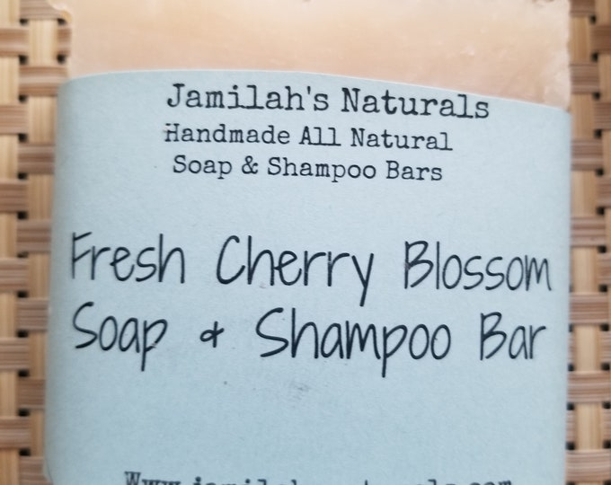 Fresh Cherry Blossom Soap & Shampoo Bar