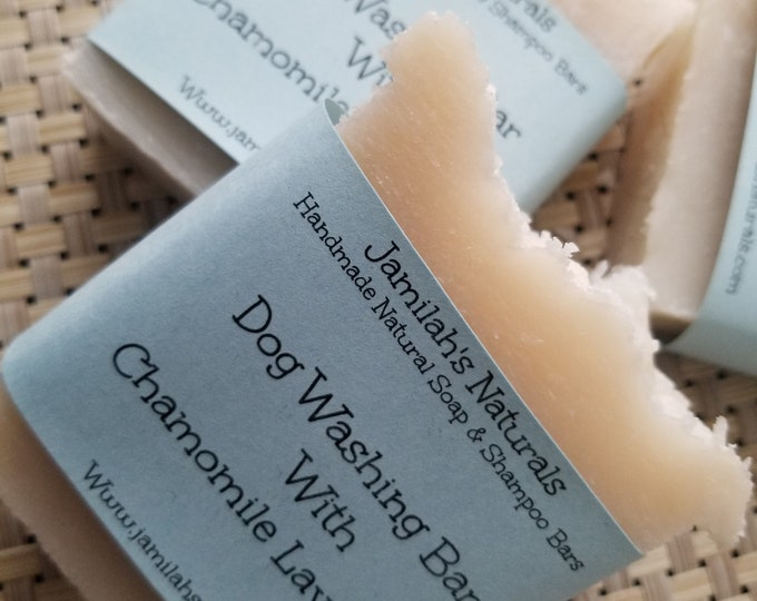 Dog Washing Soap Bar With Chamomile & Lavender