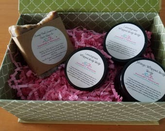 Boxed scrub gift set