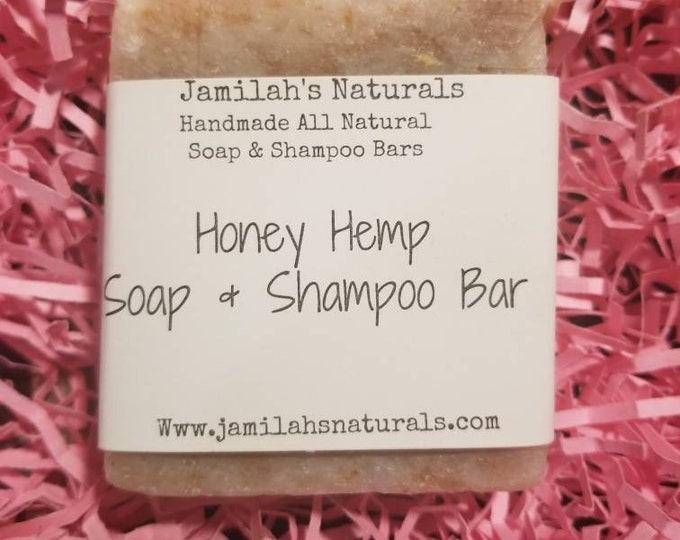 Honey Hemp Body & Shampoo Soap Bar