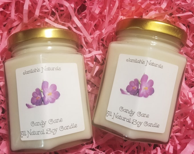 Candy Cane Natural Soy Candle