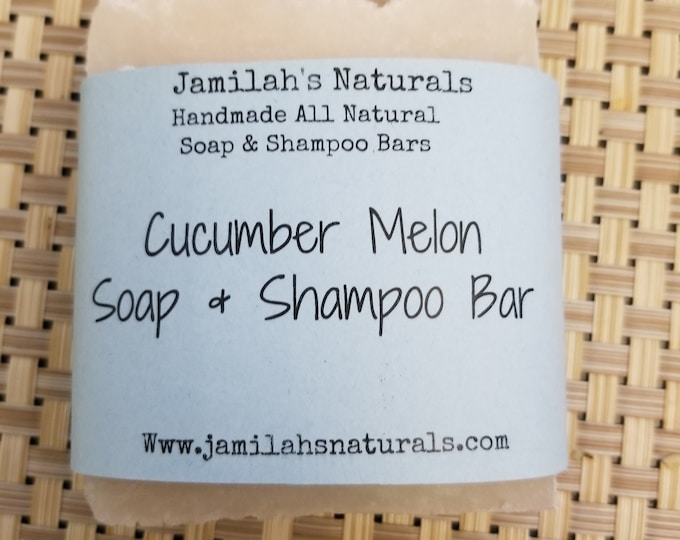 Cucumber Melon Soap & Shampoo Bar