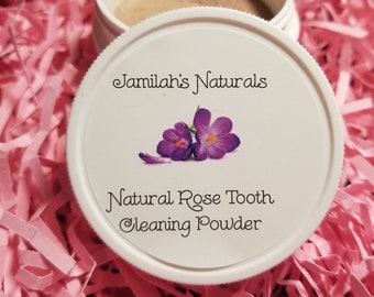 Natural Rose Tooth Cleaning Powder