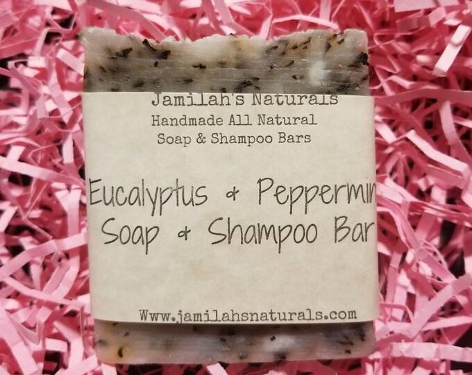 Peppermint Eucalyptus Soap and Shampoo Bar