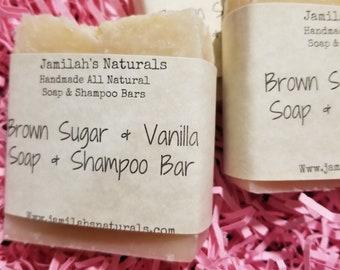 Brown Sugar & Vanilla Soap And Shampoo Bar