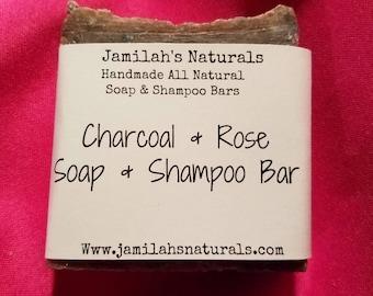 Charcoal & Rose Soap and Shampoo Bar