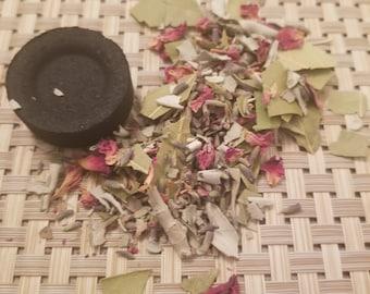 Smudges/ Loose Blends (White Sage, Bay leaves,Lavender, Rose) 1/2 oz