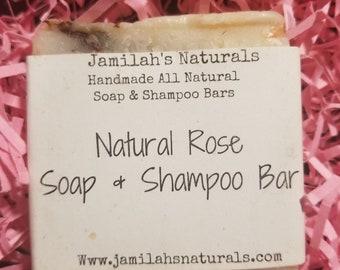 Natural Rose Soap and Shampoo Bar