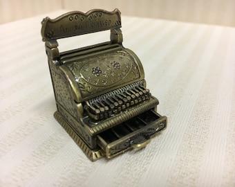 Dolls House Miniature Metal Cash Register