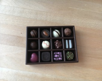 Dolls house miniature a box of chocolate