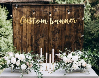 custom banner gold banner bachelorette banner bridal shower banner party banner custom party banner personalized banner custom sign